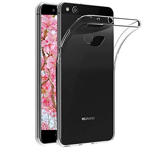 Funda Compatible con Huawei P10 Lite, Ultra Fina Silicona TPU Carcasa Protector, Anti-Choque Anti-arañazos Caso, Funda Duradera Esmerilada por Huawei P10 Lite - Transparente