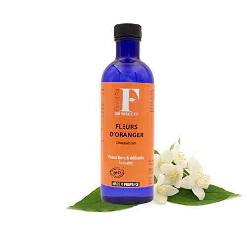 Florabiol - Eau Florale de Fleurs d'Oranger Bio 200ml - eau florale Fleur d'Oranger - Lotion Apaisante - Régénérante, Adoucissante et Tonifiante - Certifié Bio Ecocert - Fabrication Française