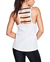 Mippo Womens Halter Neck Top Cut Out Back Shirts Backless Tank Top Soild Basic T-Shirts Workout Gym Shirts Summer Clothes for Women White XL