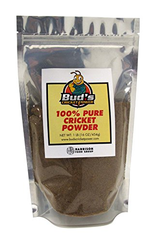 Bud's Cricket Protein Powder - 100% Pure Cricket Powder, Gluten-Free, Dairy-Free, High Protein Flour Substitute Excellent Source of Vitamin B12, Omega-3, Fiber, Amino Acids, Calcium & Iron (1 LB)