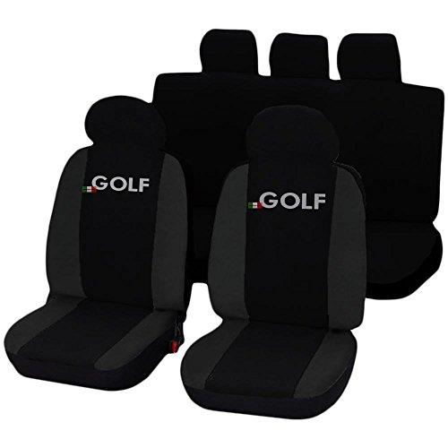 Lupex Shop 17239-01 Coprisedili compatibili Golf, Nero, Set di 6