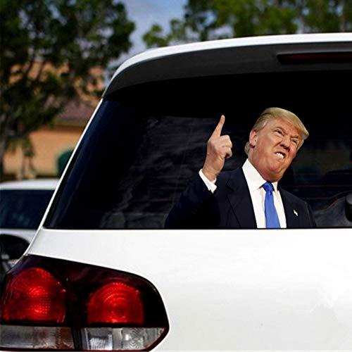 libelyef Auto Aufkleber Dekoration, Lustige Donald Trump Auto Fenster Aufkleber Dekorationen, 3D US Präsidentschaftswahl Auto Fenster Aufkleber Zeichen PVC wasserdichte Sticker Aufkleber Abnehmbar