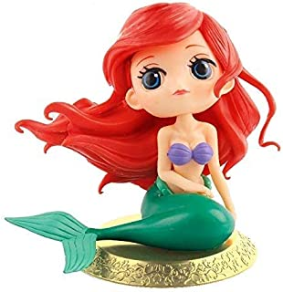 Big Eyes Mermaid Doll Cake Topper, Super Cute Cake Cupcake Topper for Christmas,Wedding Birthday Party Decoration(Gloden)