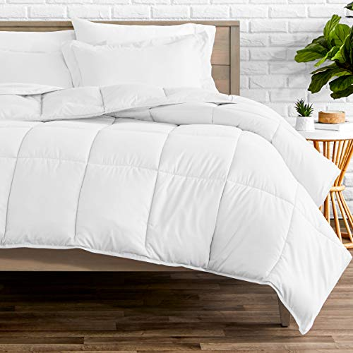 Bare Home Kids Comforter Set - Twin/Twin Extra Long - Goose Down Alternative - Ultra-Soft - Premium 1800 Series - Hypoallergenic - All Season Breathable Warmth (Twin/Twin XL, White)