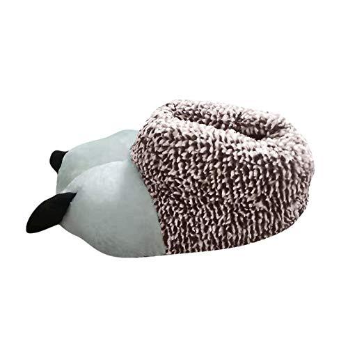 MINIKIMI winterpluche katoenen pantoffels voor heren en dames, warm gevoerd, geometrisch bedrukken, comfortabele pantoffels met kurkzool, antislip, indoor stijlvolle slippers