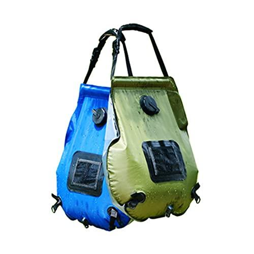 Bolsa de Ducha Hua Bolsa De Ducha Solar para Acampar Al Aire Libre 20L, Bolsa De Agua De Calefacción Portátil, Utilizada para Bañarse En Carros De Mascotas para Niños En El Jardín De Su Casa