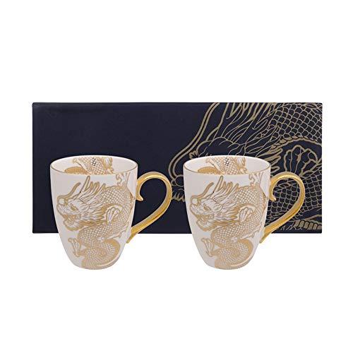 TOKYO design studio Tassen Limited Edition Nippon Gold Becher Set 2 Stück 8.5x10.2cm 380ml Dragon (Gold)