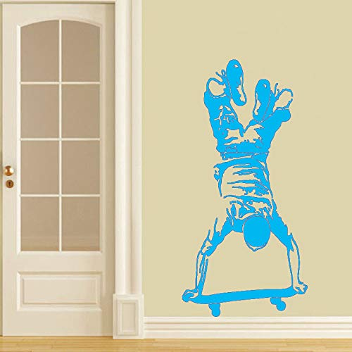 xingbuxin Skateboard Junge Wandaufkleber Extreme Sports Home Decor Skater Mann Wand Vinyl Aufkleber Skateboard Vinyl Wandmalereien 3 57x117 cm