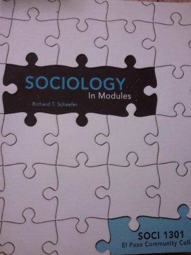 Sociology in Modules (Soci 1301 El Paso Community College)