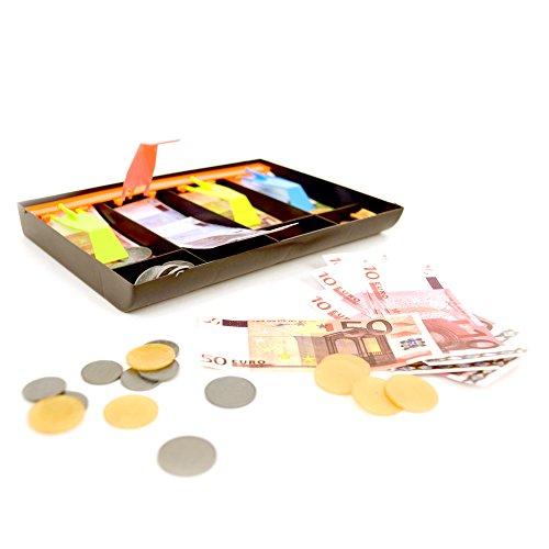 Multi Toys - Cajón con billetes y monedas para jugar, diseño Euro