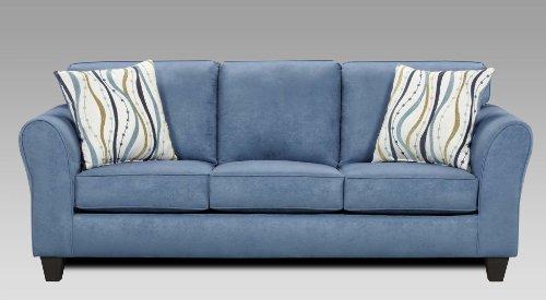 Roundhill Furniture Microfiber Sofa with 2 Pillows Patriot ...