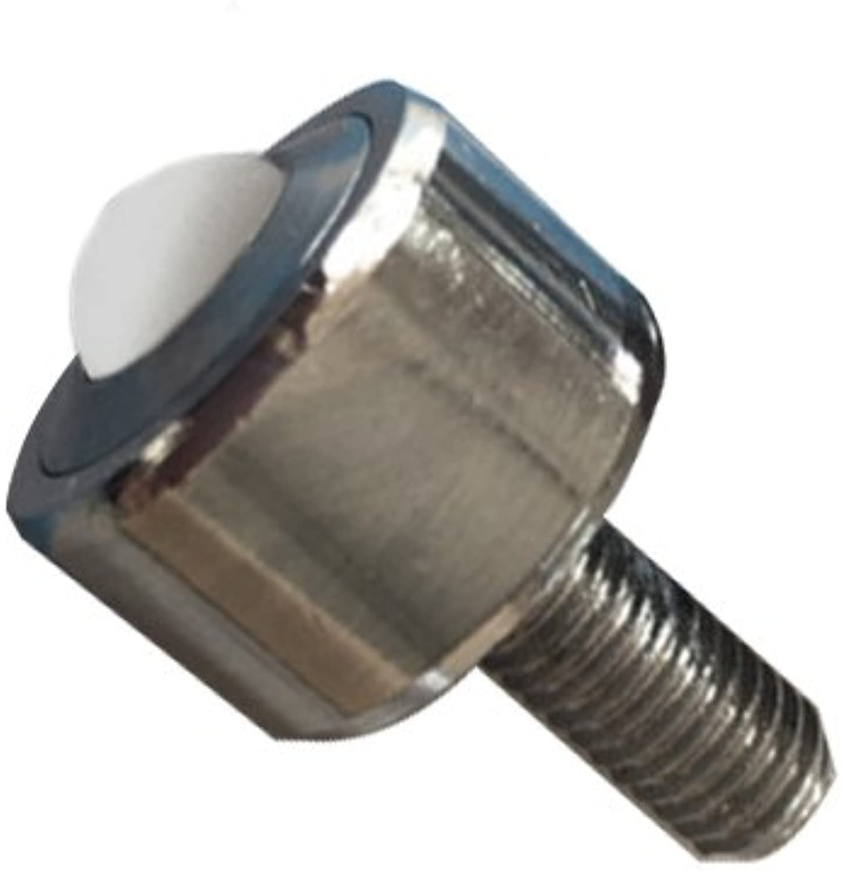 10PCS Nylon Universal ball Bearing Steel Base with bolt ball transfer unit 55-66lbs bearing Mounted Bearing Transfer Bearings