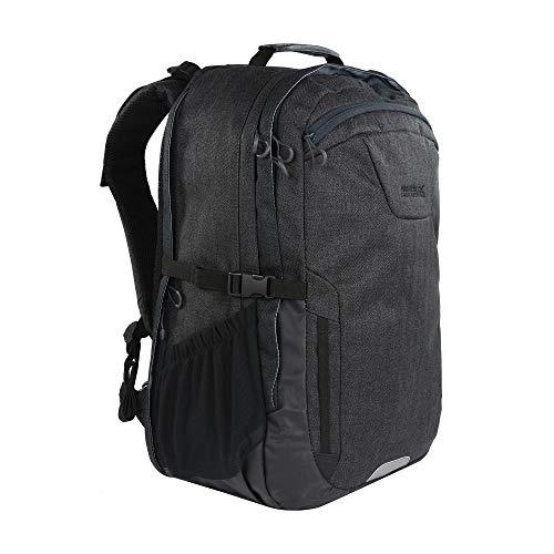 Regatta Cartar Hardwearing Padded Laptop Pocket Reflective Travel Backpack - Black, 35 Litre