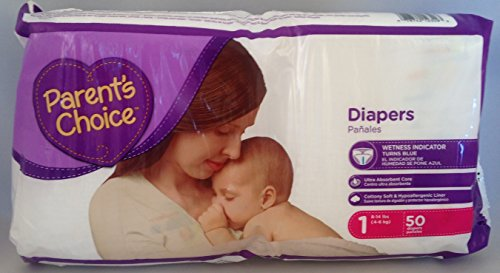 Parents Choice Diapers, Size 1, 50 Diapers