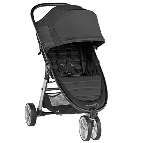 Baby Jogger City Mini 2 Pushchair | Lightweight, Foldable & Compact 3-Wheel Stroller | Jet (Black)
