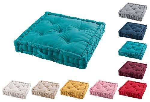 TIENDAEURASIA® Cojines de Suelo - 100% Algodón Lisa - Ideal para sillas,...