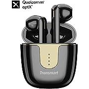 Tronsmart Onyx Ace Auriculares Inalámbricos Bluetooth 5.0, 24H Playtime,Soporte Aptx HD Calidad de Sonido, TWS, Control Tactil y Micrófono Integrado, Cancelación de Ruido, Carga Rapida y IPX5