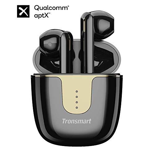 Tronsmart Onyx Ace Auriculares Bluetooth 5.0, Qualcomm Chip QCC3020, TWS Auriculares Inalámbricos con 4 Micrófonos, 24H Playtime, Aptx HD Calidad de Sonido, Cancelación de Ruido, Carga Rapida y IPX5