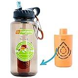 Epic Nalgene Outdoor OG | Water Bottle with Filter | Bottle + Filter Made In USA | Filtered Water Bottle | Travel Water Bottle | Water Purifier Camping Hiking Backpacking | BPA Free Water Bottle