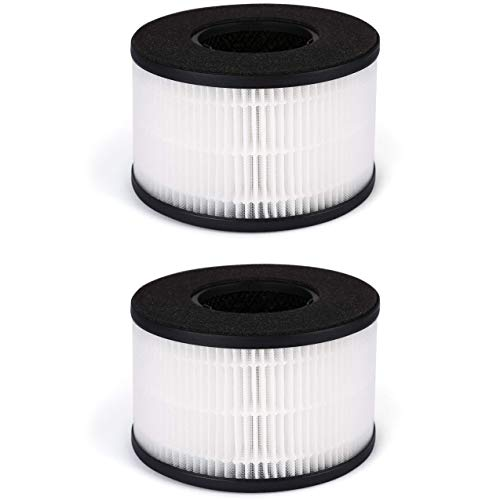 Fette Filter - BS-03 HEPA Air Replacement Filter, 3-in-1 Filtration Compatible with PARTU BS-03 Includes Pre-Filter, True HEPA Filter, Activated Carbon Filter - Pack of 2