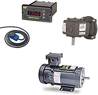ACE Glass Ace Glass 13557-220 Dc Motor And Control With Offset Gear Box And Rpm Wrap, Hazardous Duty Rated, 1/4 Hp, Digita...