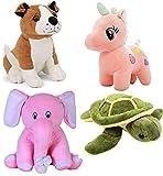 ESTON 1ST EDITION Teddy Bear Soft Toy (Bulldog-29 Cm Parrot- 24 Cm Balloon Teddy- 24 Cm Pikachu-25 Cm Elephant-25 Cm , Mixed Colour)