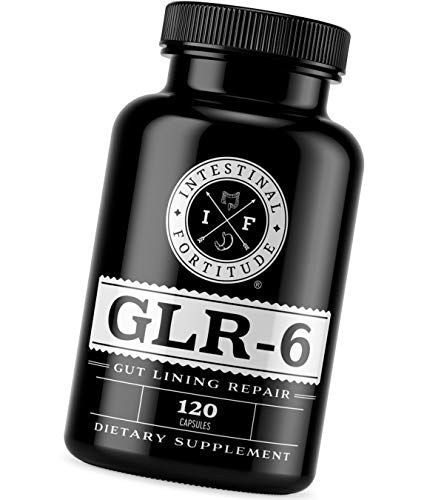 Intestinal Fortitude GLR-6 - Gut Lining Repair Supplement - Leaky Gut - IBD - IBS - Marshmallow Root - Slippery Elm - L Glutamine - DGL Licorice Root - Fenugreek - N Acetyl D Glucosamine - Gut Health