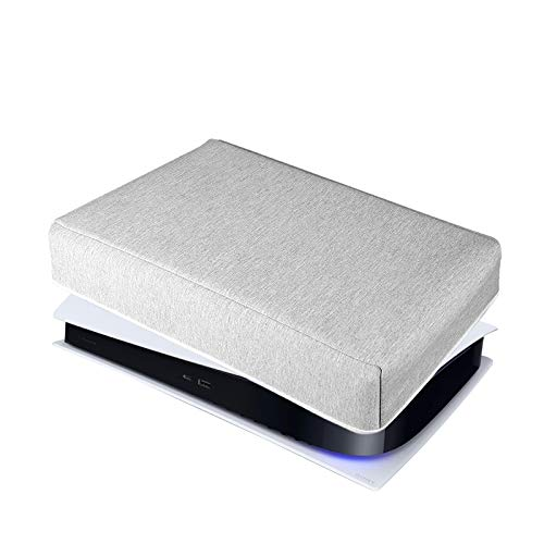PS5 Console Dust Cover Horizontal Custom Designed for Playstation 5 Console Thick Cotton Precision Cut Easy Access Cable Port(Horizontal Position)