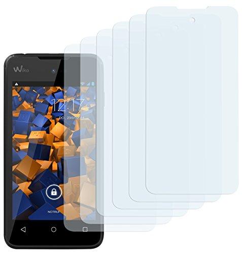 mumbi Schutzfolie kompatibel mit Wiko Sunny Folie klar, Bildschirmschutzfolie (6X)