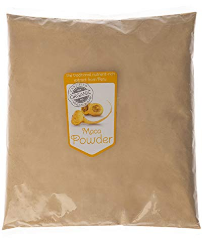 Superfoodies Peruvian Certified Organic Raw Maca Root Powder 1KG – Energy Boost, Supports Immune System, Source of Vitamin Bs, C, Magnesium