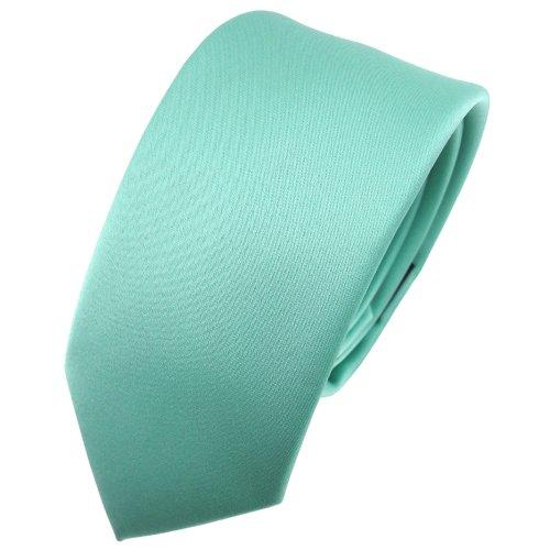 TigerTie - corbata estrecha - verde menta monocromo