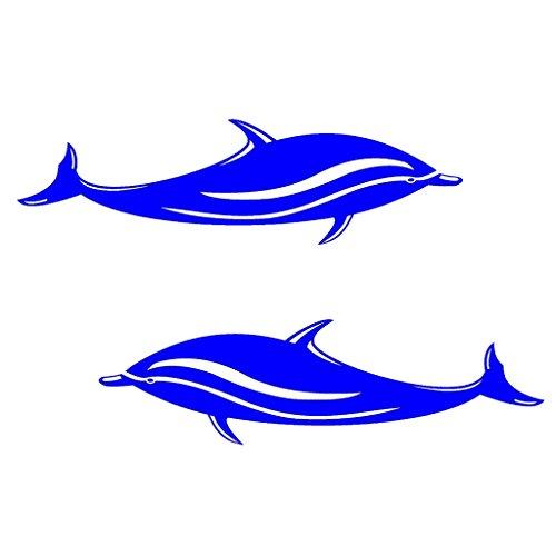 Sharplace 2 Pcs Adesivi con Delfino Stampa per Automobili, Finestre, Computer Portatili, Pareti, kayak, Barca Decalcomania Stickers