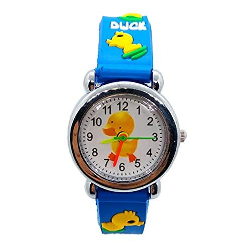 watch 2020 nuevo reloj Digital 3D de dibujos animados de pato para niños, relojes para niñas y estudiantes, reloj electrónico de cuarzo resistente al agua para niños