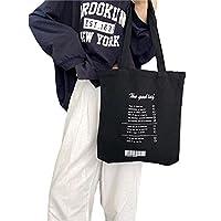 トートバッグ レディース 英語 レトロ シンプル キャンバスバッグ 旅行 大容量 帆布 韓国風 A4収納 仕切り 多機能 通勤 通学 カジュアル 可愛い ショルダーバッグ ショッピングバッグ マザーズバッグ 買い物用 エコ バッグ おしゃれ