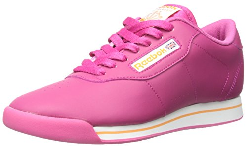 Reebok Women's Princess Casual Shoe, Cond Pink/White/Maximum Orange, 8 M US