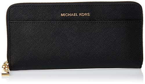 Michael Kors Jet Set - Portafogli Donna, Nero (Black), 2.5x10.2x20.3 cm (W x H L)