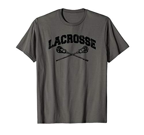 LACROSSE Crossed Sticks Lax Player Boys Girls Teens Vintage T-Shirt