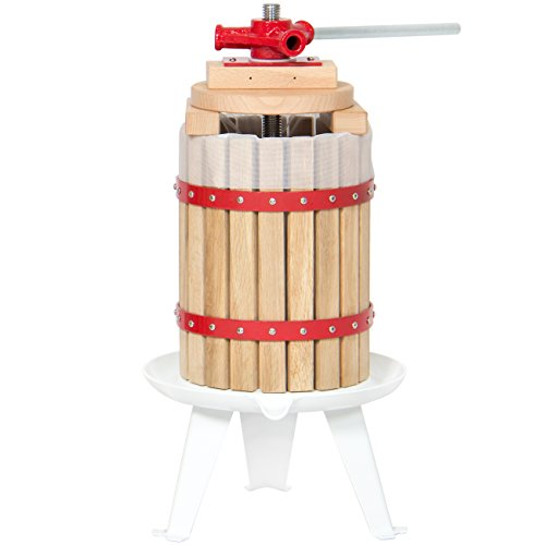 Best Choice Products 1.6-Gallon Tabletop Wooden Fruit and Wine Press Juicer Basket, Natural Home Juice and Cider Maker