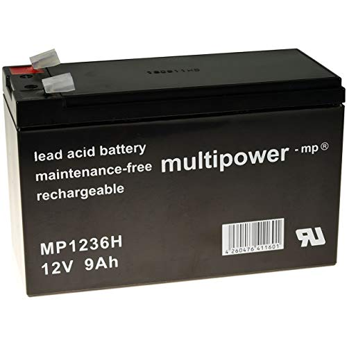 akku-net Blei-Gel Akku (multipower) 12V 9Ah (ersetzt auch 7,2Ah / 7Ah), 12V, Lead-Acid
