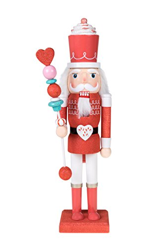 Clever Creations Candy King Nutcracker Collectible Wooden Christmas Nutcracker   Festive Holiday Decor   100% Wood   15' Tall