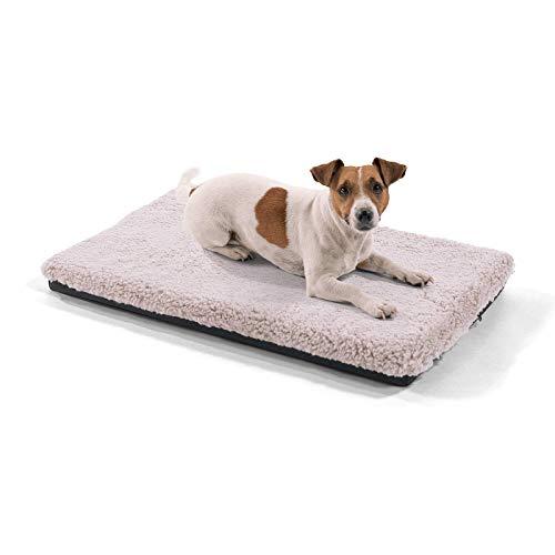 brunolie Luna kleine Hundedecke, orthopädisch, atmungsaktiv und waschbar, Hundematte mit gelenkschonendem Memoryschaum in Beige, Größe S (60 x 40 x 5 cm)