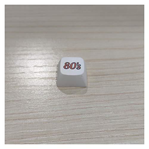1 stück keycap alte stil radio tape skates cd retro spiele consico ersatz pac mann flach keecaps für mechanische gaming tastatur Geeignet für Computerperipheriegeräte ( Color : 80s keycaps )