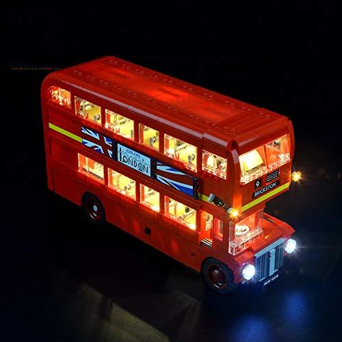 Kit De Iluminación Led para Lego Creator Expert Autobús Londres, Compatible con Ladrillos De Construcción Lego Modelo 10258, NO Incluido En El Modelo