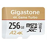 Gigastone Carte microSD XC 256 Go A1 V10 UHS-I U1 avec Adaptateur SD.Vitesse de Lecture allant jusqu'à 95 Mo/s Haute Vitesse vidéo Full HD Nintendo Dashcam GoPro Caméra Samsung Canon Nikon DJI Drone