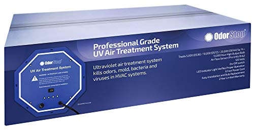 OdorStop UV Air Treatment System (OS36) Professional Grade 36 watt Air Treatment System That Utilizes Ultraviolet Light to Kill Odors, Mold, Bacteria and Viruses in HVAC Systems