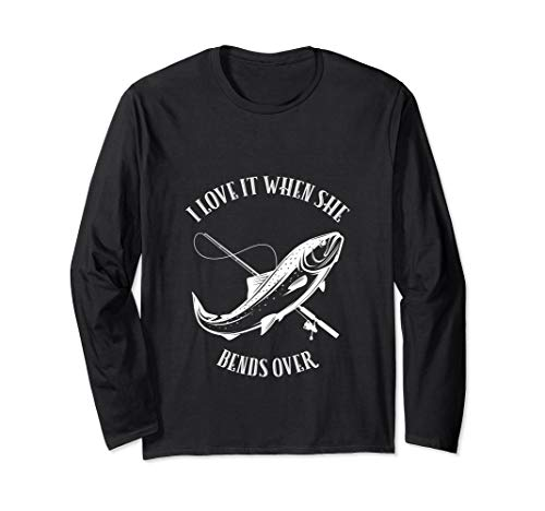 Fischen Hemd Mann Geschenk Liebe, wenn sie vorbei verbiegt Langarmshirt