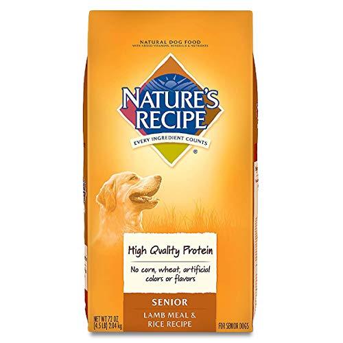 Nature's Recipe Senior Dry Dog Food, Lamb...