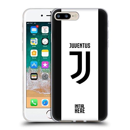 Head Case Designs Officially Licensed Custom Customised Personalised Juventus Football Club Franja audaz Carcasa de Gel de Silicona Compatible con Apple iPhone 7 Plus/iPhone 8 Plus