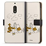 DeinDesign Étui Compatible avec Nokia 6 2017 Étui Folio Étui magnétique Winnie l'ourson Produit...