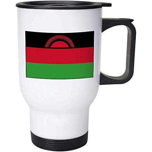 Azeeda 400ml 'Malawi-Flagge' Wiederverwendbarer Kaffee / Reise-Becher (MG00032947)